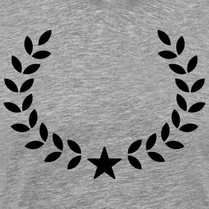 Laurel Wreath, Star, Winner, Team, Best, First, 1, T-Shirts - Men's Premium T-Shirt
