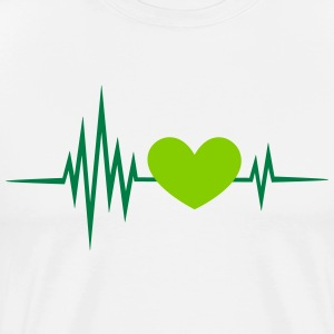Pulse, frequency, heartbeat, vegan heart rate,  T-Shirts - Men's Premium T-Shirt