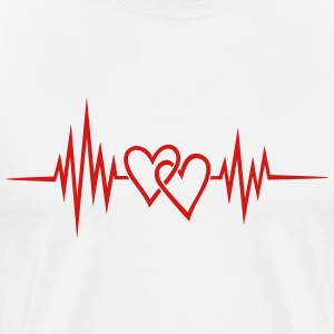 Heart Rate, Frequency, Valentins Day, Heartbeat,  T-Shirts - Men's Premium T-Shirt