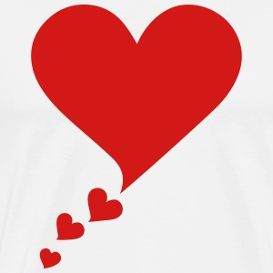 Speech Bubble, Balloon Comic Book Style, Heart T-Shirts - Men's Premium T-Shirt