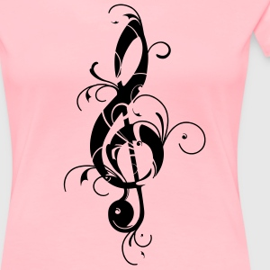 Treble Clef, Music Note, Bass, Musician, Notes,  T-Shirts - Women's Premium T-Shirt