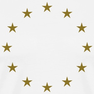 Gold Stars, Europe, European Union, Flag T-Shirts - Men's Premium T-Shirt