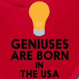 Geniuses are born in THE USA S3kgd Caps - Bandana