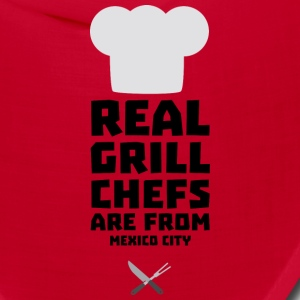 Real Grill Chefs are from Mexico City Ss6ry Caps - Bandana