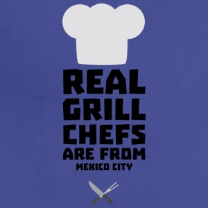 Real Grill Chefs are from Mexico City Ss6ry Aprons - Adjustable Apron
