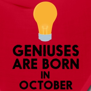 Geniuses are born in OCTOBER S2isj Caps - Bandana