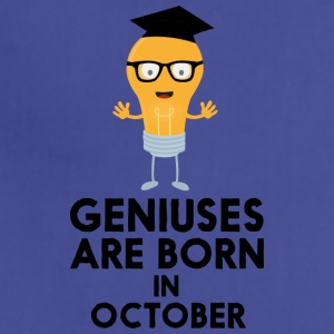 Geniuses are born in OCTOBER S8kn3 Aprons - Adjustable Apron