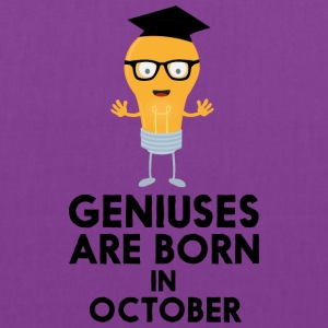 Geniuses are born in OCTOBER S8kn3 Bags & backpacks - Tote Bag