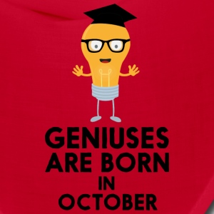 Geniuses are born in OCTOBER S8kn3 Caps - Bandana