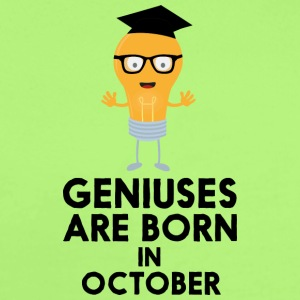 Geniuses are born in OCTOBER S8kn3 Baby Bodysuits - Short Sleeve Baby Bodysuit