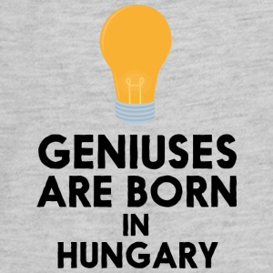 Geniuses are born in HUNGARY Suu8r Kids' Shirts - Kids' Premium Long Sleeve T-Shirt