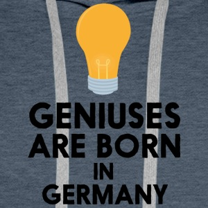 Geniuses are born in GERMANY Sh2xp Men's Long Sleeve - Men's Premium Hoodie