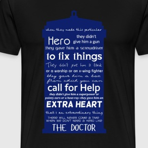 A Hero like the Doctor - TARDIS design - Men's Premium T-Shirt