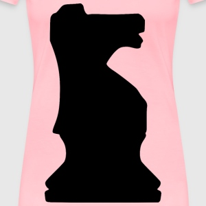 Silhouette Chess Piece REMIX – Knight / Caballo - Women's Premium T-Shirt