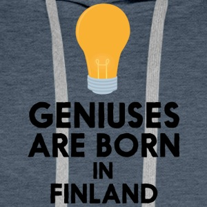 Geniuses are born in FINLAND S1c83 Men's Long Sleeve - Men's Premium Hoodie