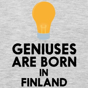 Geniuses are born in FINLAND S1c83 Long Sleeve Shirts - Men's Premium Long Sleeve T-Shirt