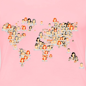 Avatars World Map - Women's Premium T-Shirt