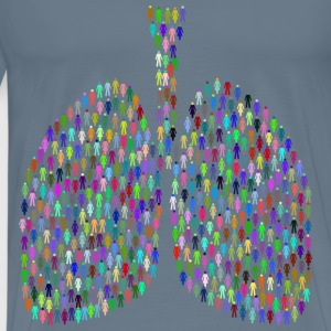 Prismatic People Lungs - Men's Premium T-Shirt