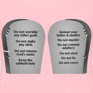 Ten Commandments - Women's Premium T-Shirt