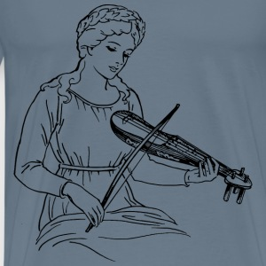 Woman playing a rebec - Men's Premium T-Shirt