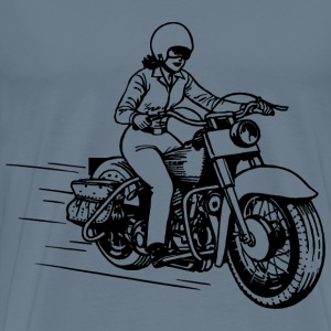 Lady on motorbike - Men's Premium T-Shirt