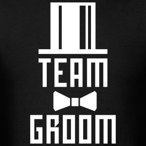Team Groom Bachelor Party JGA Cylinder Hut BFF Tee - Men's T-Shirt