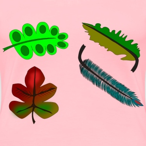 leaves and feather - Women's Premium T-Shirt
