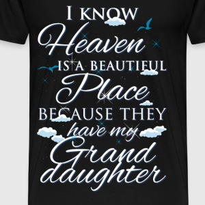 Granddaughter., heaven - Men's Premium T-Shirt