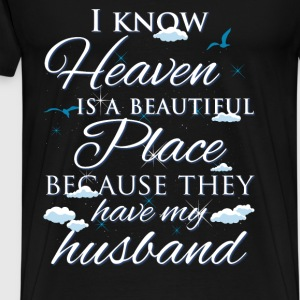 Husband., heaven - Men's Premium T-Shirt