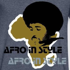 afro T-Shirts - Men's V-Neck T-Shirt by Canvas