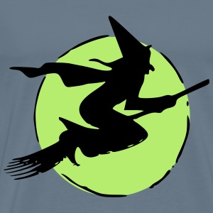 Flying witch - Men's Premium T-Shirt