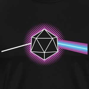 Dungeons & Dragons d20 Pink Floyd Dark Side of the - Men's Premium T-Shirt