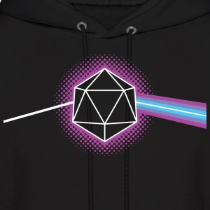 Dungeons & Dragons d20 Pink Floyd Dark Side of the - Men's Hoodie