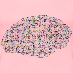 Prismatic Low Poly Wireframe Molecule Brain - Women's Premium T-Shirt