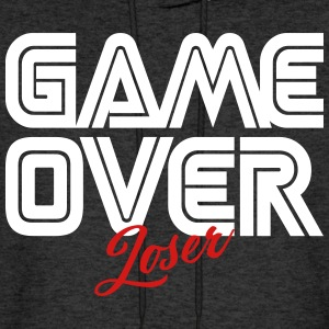 Game Over Loser Hoodies - Men's Hoodie