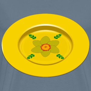 flower plate - Men's Premium T-Shirt