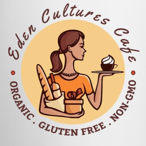 Eden Cultures Cafe Logo Mugs & Drinkware - Coffee/Tea Mug
