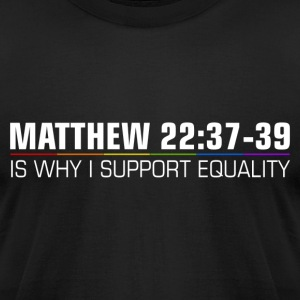 Christians for Marriage Equality - Men's T-Shirt by American Apparel