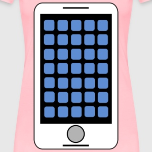 Smartphone Tablet Clipart Icon - Women's Premium T-Shirt