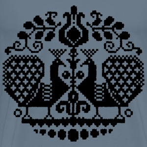 Cross Stitch Pattern Silhouette - Men's Premium T-Shirt