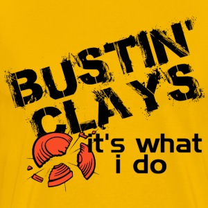 Bustin Clays - Men's Premium T-Shirt