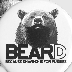Bear and beard Buttons - Small Buttons