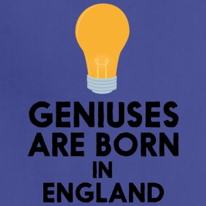 Geniuses are born in ENGLAND Smuc6 Aprons - Adjustable Apron