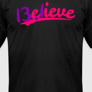 13 1 Believe Half Maratho - Men's T-Shirt by American Apparel