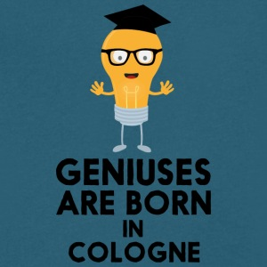Geniuses are born in COLOGNE S6zuw T-Shirts - Men's V-Neck T-Shirt by Canvas