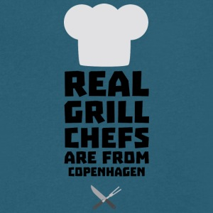 Real Grill Chefs are from Copenhagen Sjb8b T-Shirts - Men's V-Neck T-Shirt by Canvas