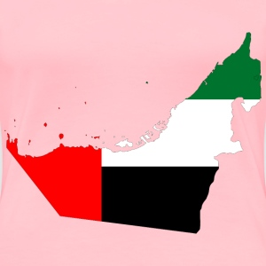 United Arab Emirates Map Flag With Stroke - Women's Premium T-Shirt