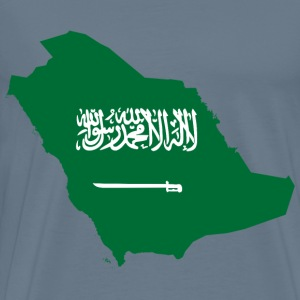 Saudi Arabia Map Flag - Men's Premium T-Shirt