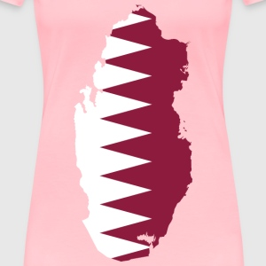 Qatar Map Flag - Women's Premium T-Shirt