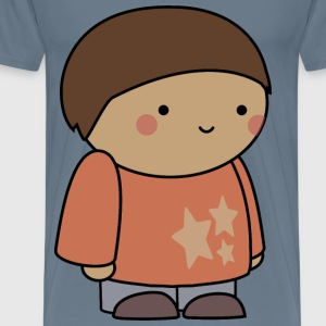 Blushing comic character - Men's Premium T-Shirt